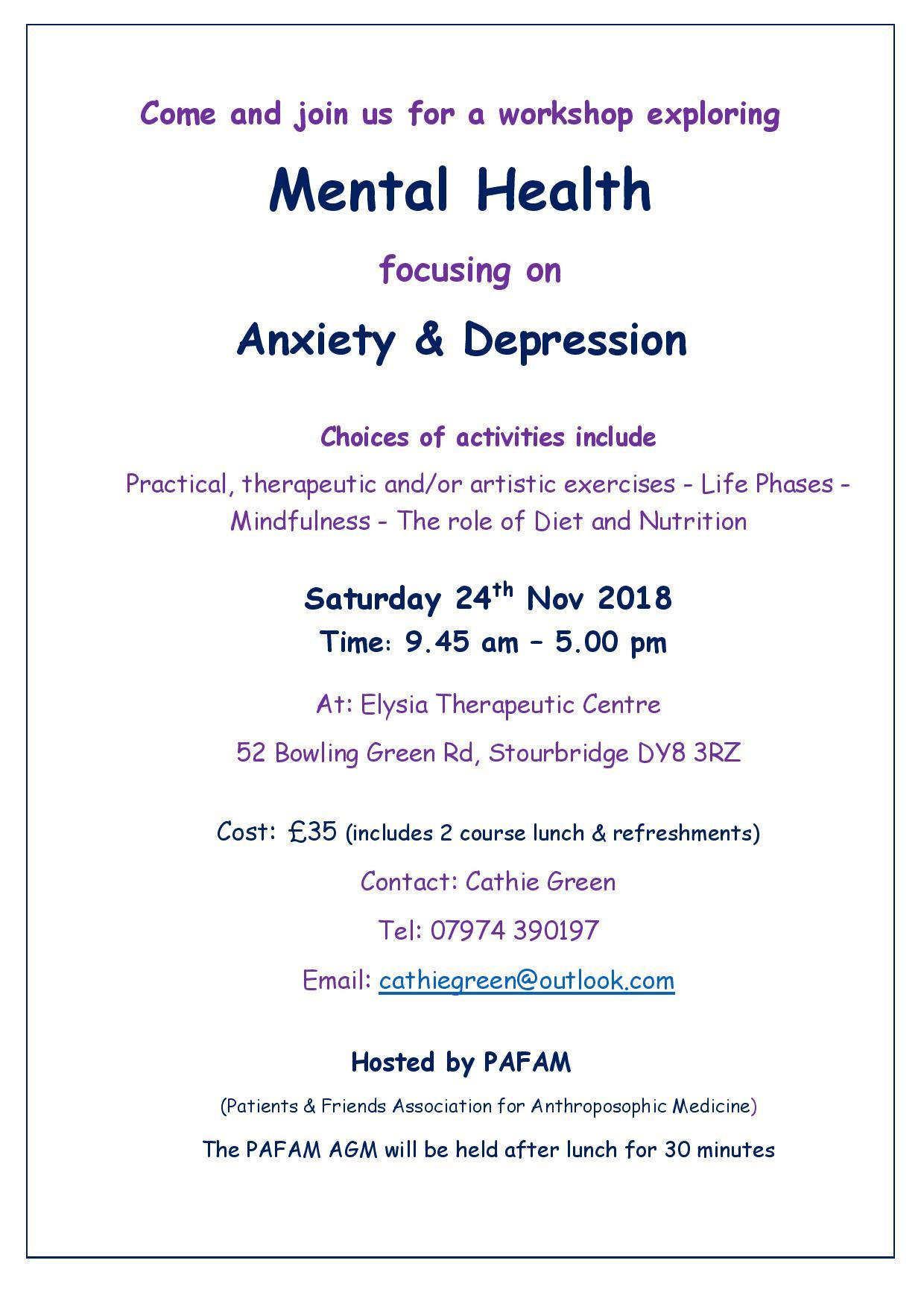 Mental Health Workshop Poster