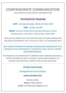 Compassionate Communication Workshop Poster