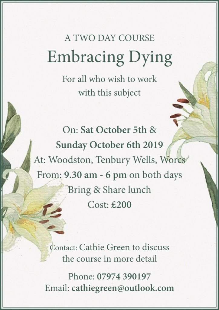 Embracing Dying Course October 2019